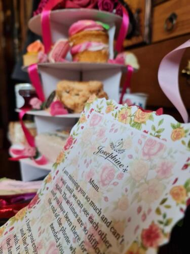 Mothers Day Afternoon Tea Message Scroll